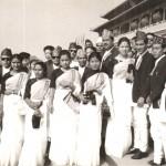 1st Visit to China: From Left - Mr/Mrs. Puspa Nepali, Chitra Devi, Koili Devi, Nir B. Pyasi, Bhuwan Chand, Janardan Sama, Ganga Rana, Bimala Shrestha, Kumar Basnet, Kokil Gurung, Kanchha Gurju.