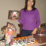 Avisha with her chocolates